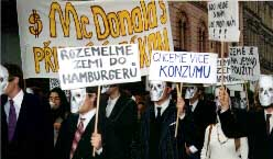 Přehled protestů v ČR: Brno 1996 (anglicky)